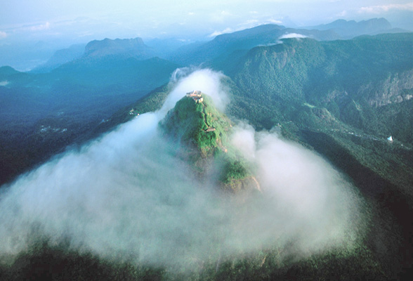 Adam S Peak In Southern Sri Lanka Emerges From The