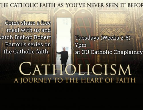Every Tuesday (Weeks 2-8)  7pm – Catholicism A journey to the heart of Faith