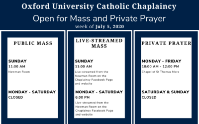 Opening times for Mass and private prayer (plus, a survey)